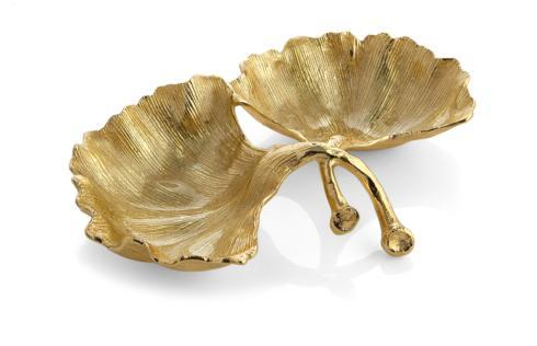 $100.00 New Leaves Ginkgo Double Compartment Dish