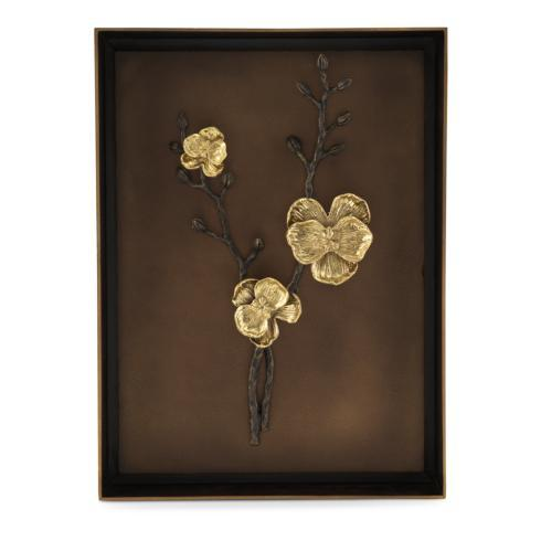 $395.00 Gold Orchid Shadow Box