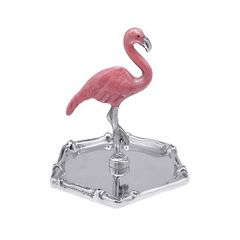 $44.00 Pink Flamingo & Bamboo Ring Dish