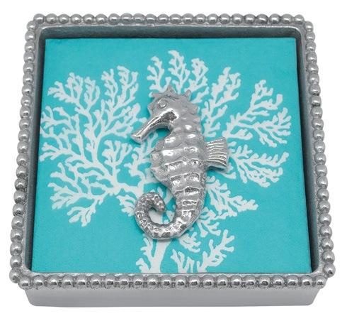 $33.60 Seahorse Beaded Napkin Box