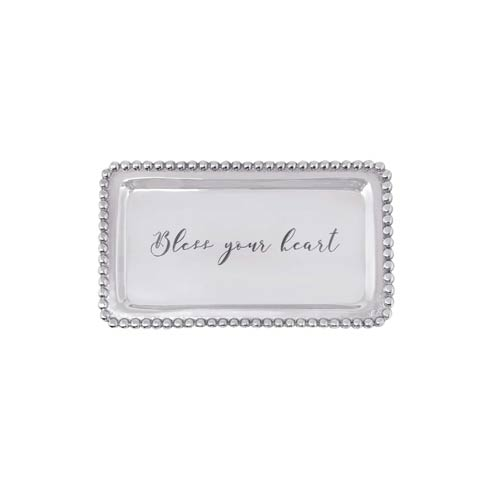 $39.00 BLESS YOUR HEART Beaded Tray