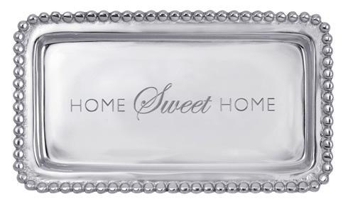 $39.00 Home Sweet Home Beaded Tray