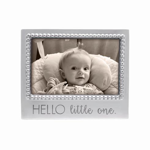 $49.00 HELLO LITTLE ONE Beaded 4 x 6 Frame