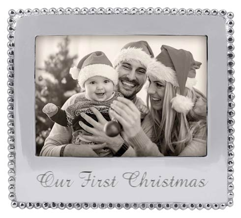 OUR FIRST CHRISTMAS Beaded 5x7 Frame image