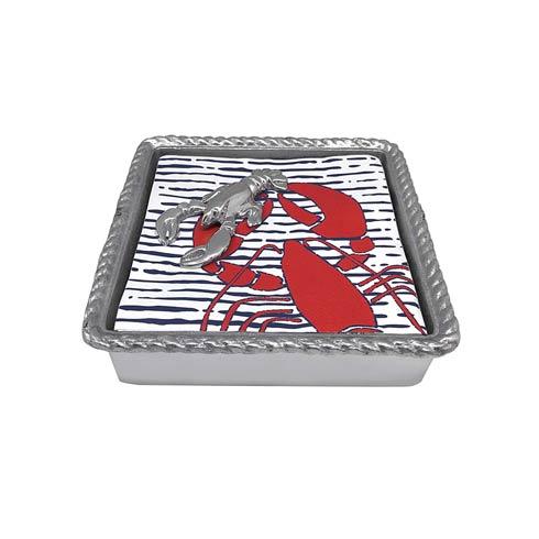 $49.00 Lobster Rope Napkin Box