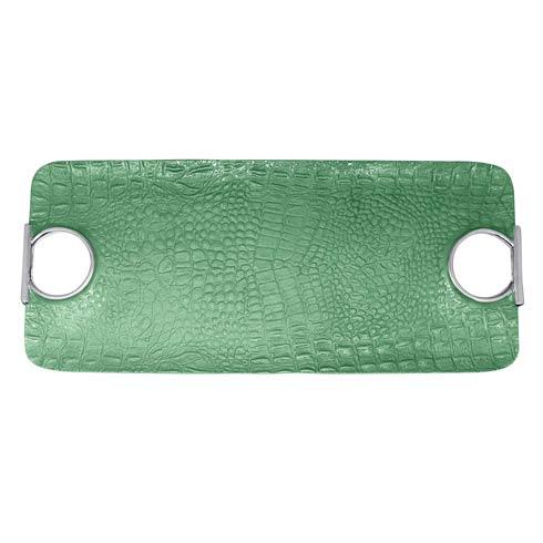 $189.00 Rectangular Green Handled Tray