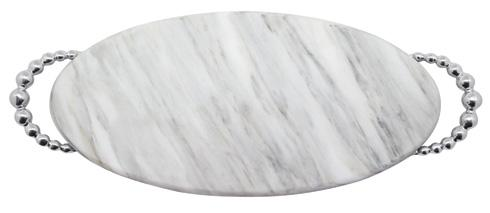 $145.00 Pearled Long Oval Marble