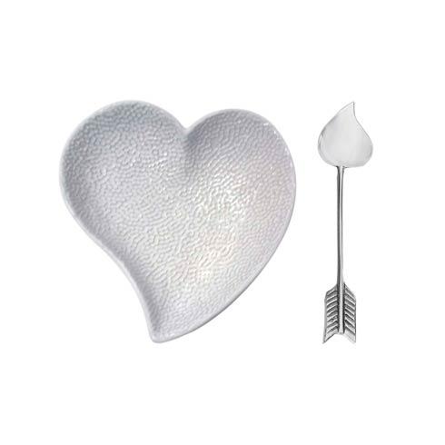 $49.00 Heart Ceramic Dish with Arrow Spoon