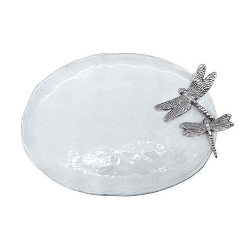 $89.00 Dragonfly Ceramic Oval Platter