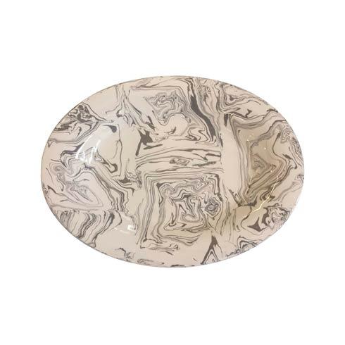 $295.00 Stone Marble Ceramic Oval Platter