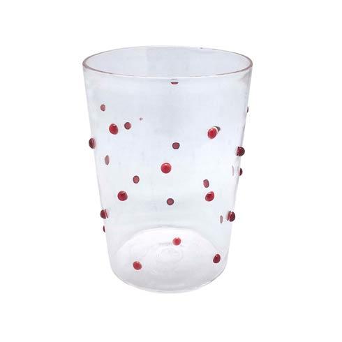 $39.00 Red Dotty DOF Glass