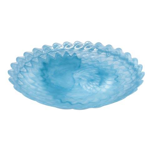 $59.00 Aqua Large Scallop Rim Bowl
