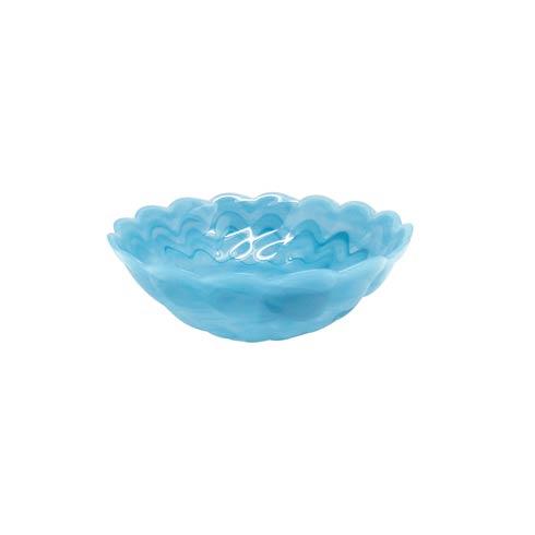 $24.00 Aqua Small Scallop Rim Bowl
