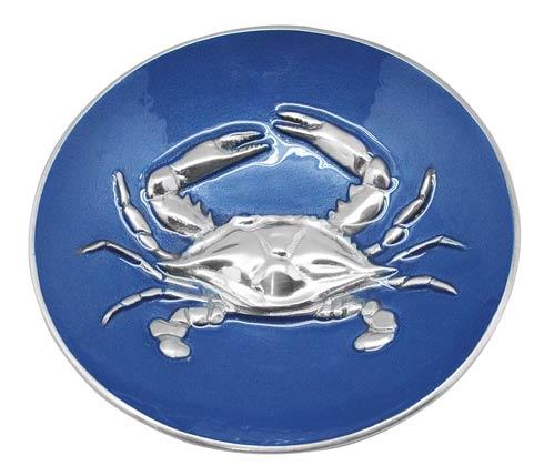 Cobalt Crab Relief Bowl image