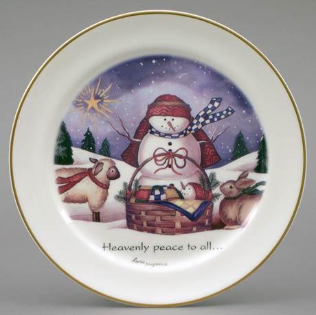 $14.40 Christmas Snowman Plate