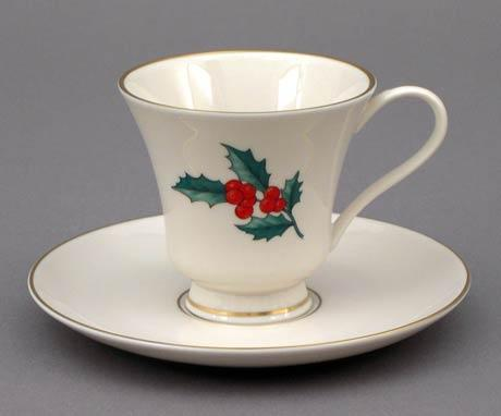$36.00 Holly Cup and Saucer-Margaret Shape