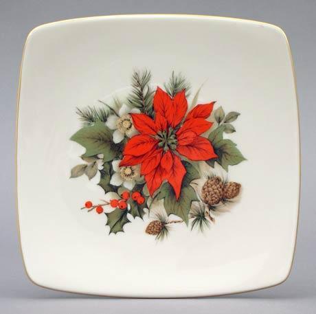 $22.00 Poinsettia Square Plate