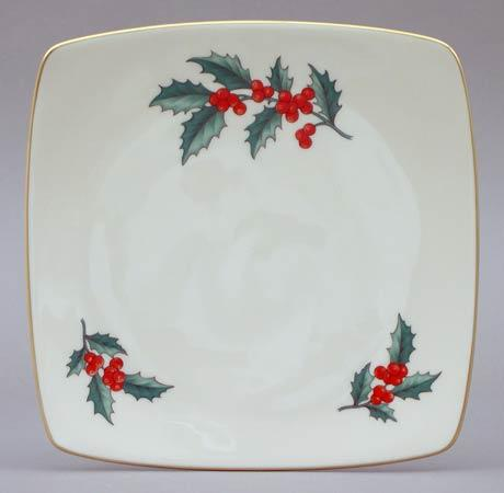 $22.00 Holly Square Plate