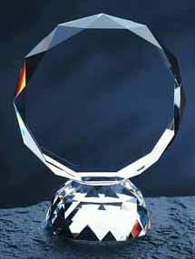 $87.00 Faceted Circle award large