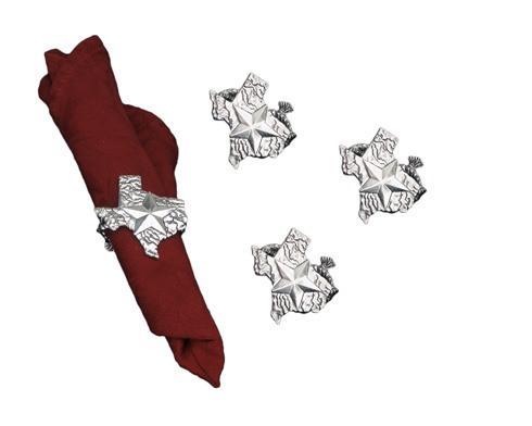 $40.00 Texas Napkin Rings-Set/4