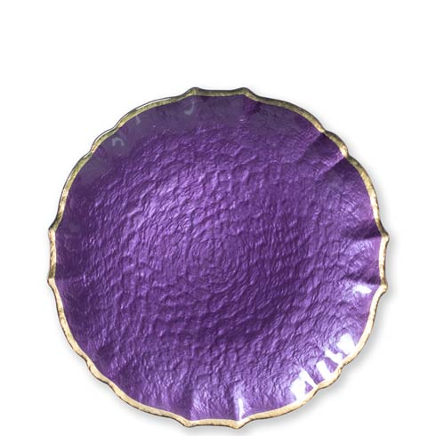 $22.00 Purple Salad Plate