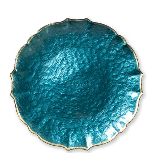 $34.00 Teal Service Plate / Charger