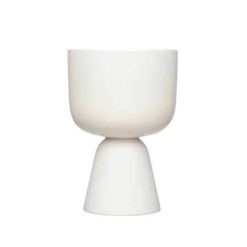 "$75.00 White Plant Pot – 9 X 6"""