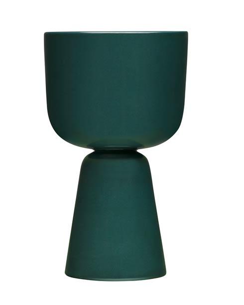"""$90.00 Dark Green Plant Pot – 10.25"""" X 6"""""""
