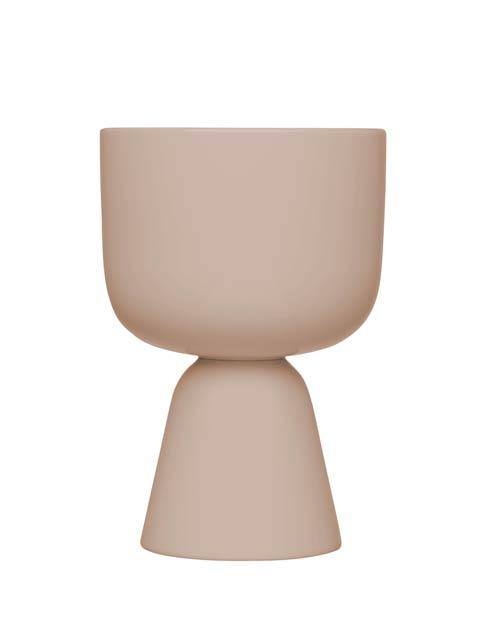 """$75.00 Beige Plant Pot – 9 X 6"""""""