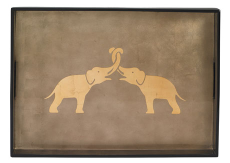 Big Tray, Elephant in Espresso/Coffee