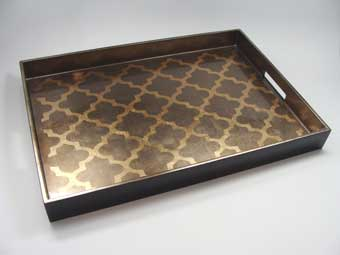 Big Tray, Arabesque in Coffee/Espresso