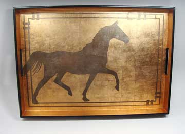 Big Tray, Horse in Espresso/Coffee