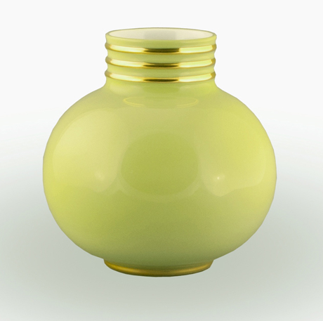 Arienne Small Vase, Celery/Gold