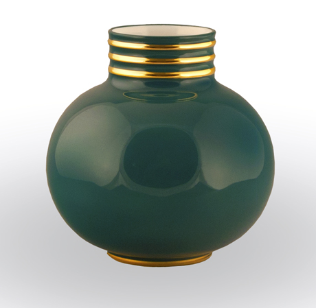 Arienne Small Vase, Peacock/Gold
