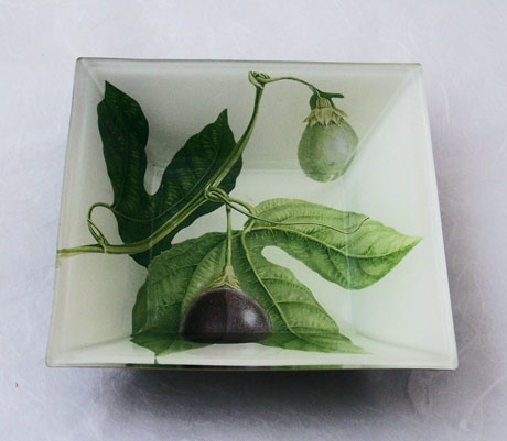 Flared Square Bowl Passion Fruit on White
