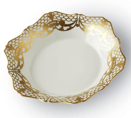 Alencon 24kt Gold Soup Plate