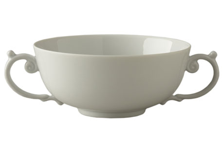 Aegean White Soup Bowl with 2 Handles