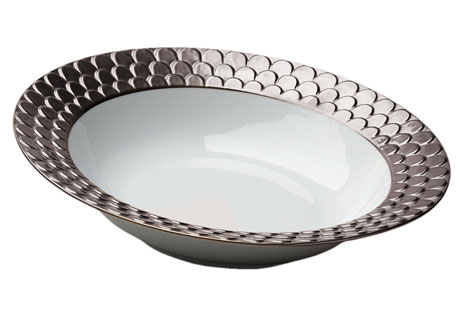 Aegean Platinum Round Serving Bowl