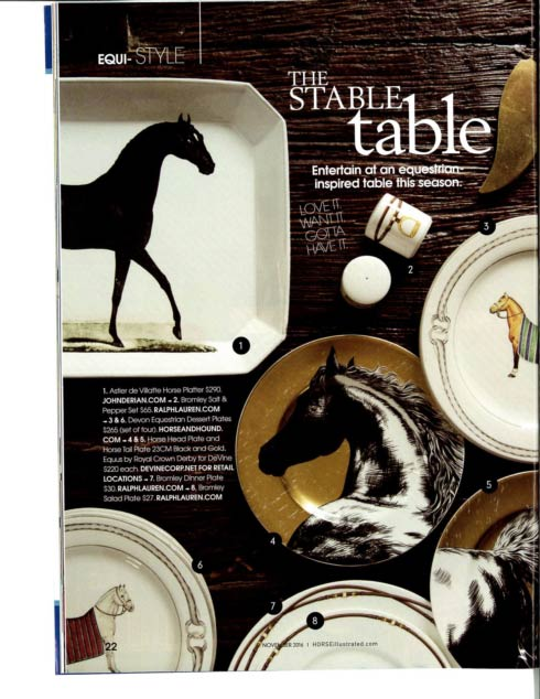 Royal Crown Derby Equus Black and Gold