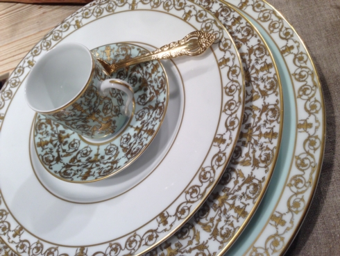 Here is the new dinnerware pattern from Deshoulieres if you missed Tabletop - TUILERIES in mint or white & Official News for BIA Cordon Bleu from Bridge Catalog - New York NY
