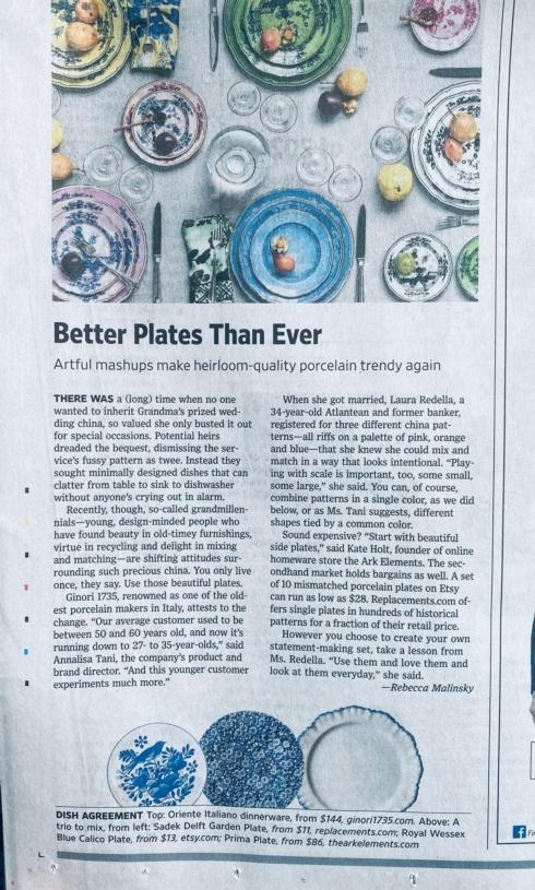 WSJ: Young People Want Colorful Plates