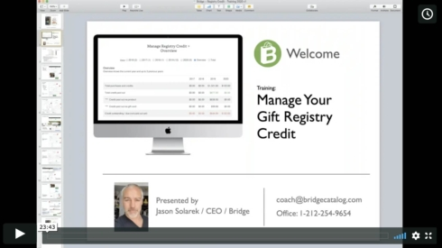 Training Video: Manage Your Registry Credit
