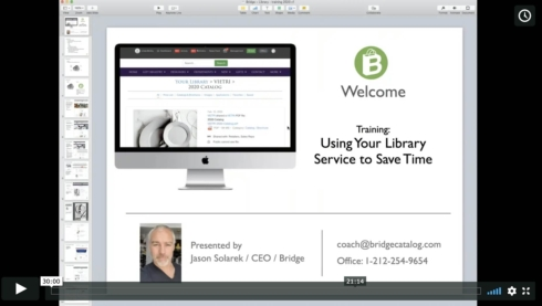 Training Video: Use Bridge Library to Save Time
