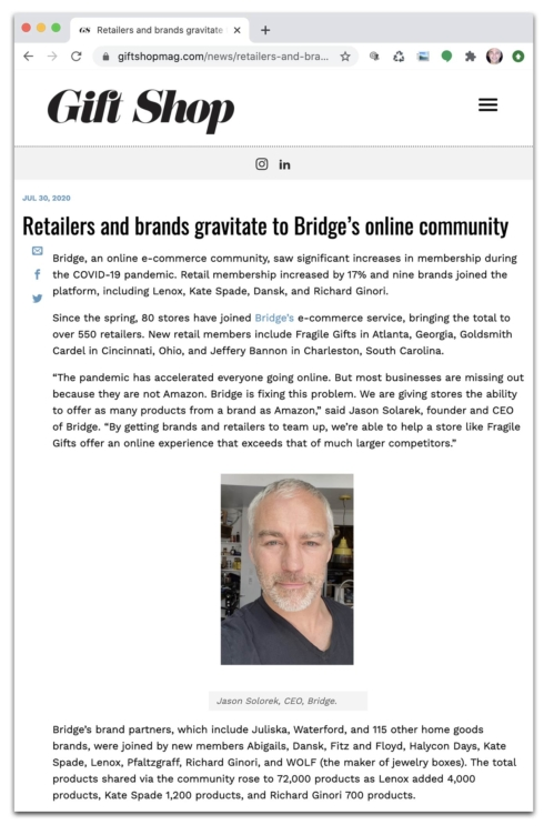Trade Publications Report on Bridge's Growth