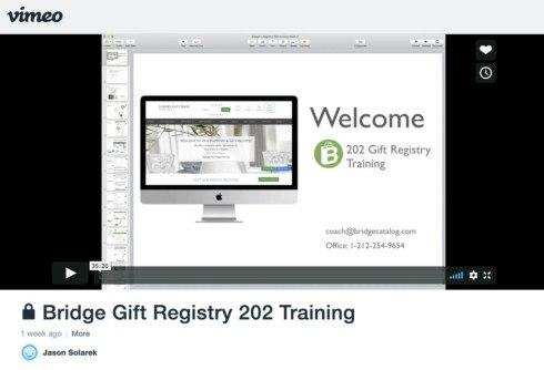 Training Video: Gift Registry 202 Webinar