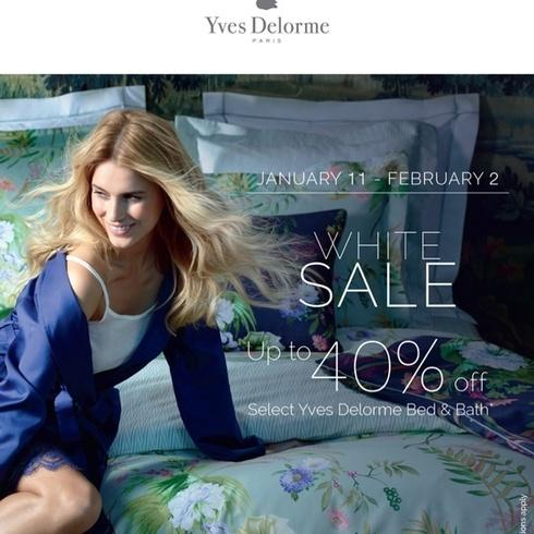 Yves Delorme sale