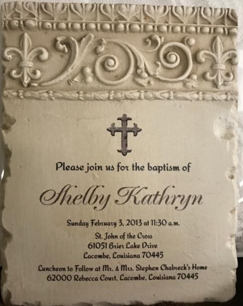 Wedding Baptismal