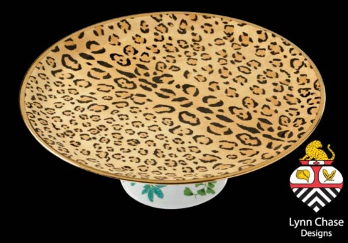 The Lynn Chase Leopardu0027s Delight CAKE PLATE! The bold leopard print on top and an elegant leaf-adorned pedestal makes this the perfect piece to display your ...  sc 1 st  Vieuxtemps & Lynn Chase Collections and Patterns home page from Vieuxtemps in ...