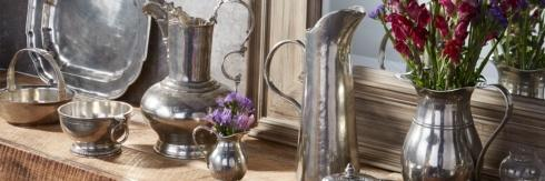 Pewter Serveware collection with 32 products