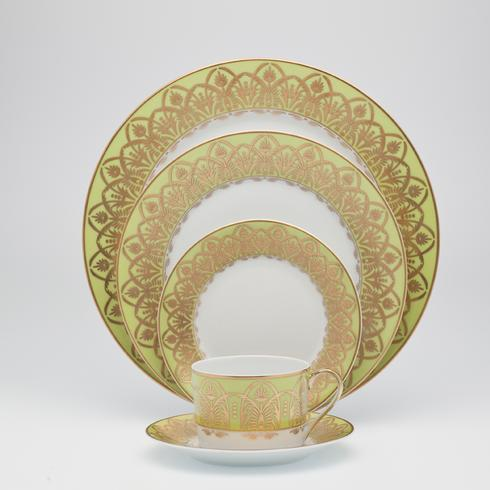 Royal Limoges  Recamier - Oasis Green Dessert plate $90.00